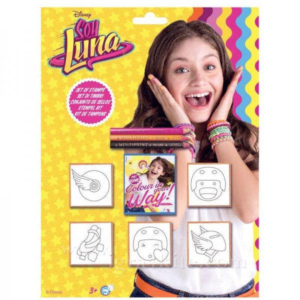 Soy Luna - Детски комплект дървени печати 5 броя Soy Luna