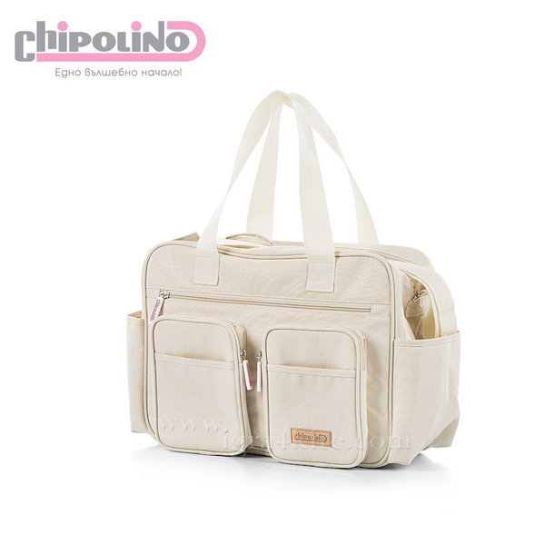 Chipolino - Чанта за количка с подложка за повиване Беж