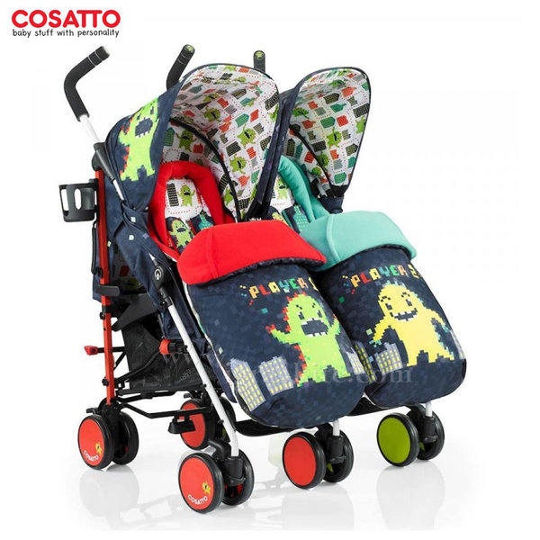 Cosatto - Количка за близнаци Supa Dupa Monster Arcade CT3383