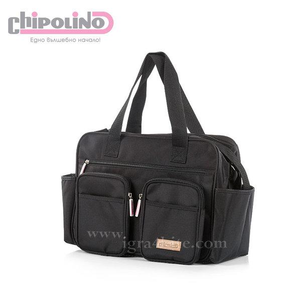 Chipolino - Чанта за количка с подложка за повиване Черна