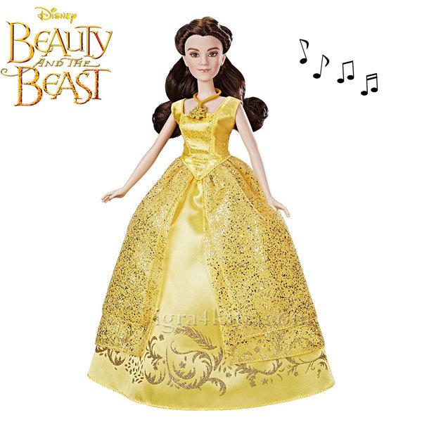 Disney Princess - Красавицата и звяра Пееща кукла Бел с бална рокля B9165
