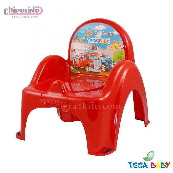 Chipolino - Бебешко гърне-столче Коли червено