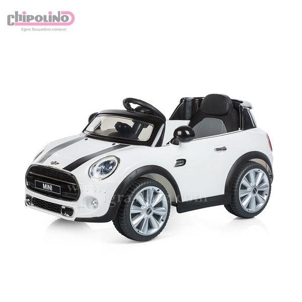 Chipolino - Акумулаторна кола Mini Cooper Hatch с дистанционно и MP3 бяла