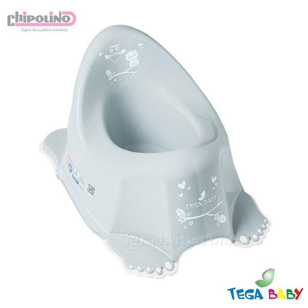 Chipolino - Бебешко анатомично гърне Бухалчета сиво