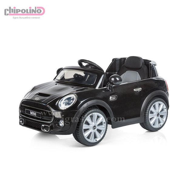 Chipolino - Акумулаторна кола Mini Cooper Hatch с дистанционно и MP3 черна