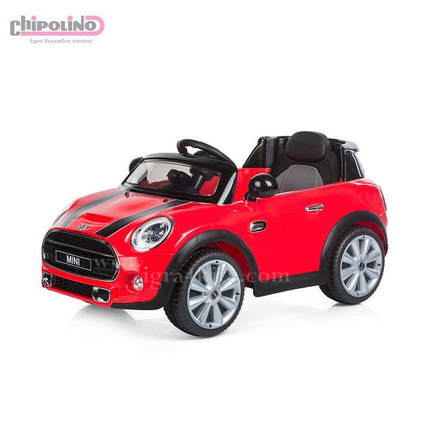 Chipolino - Акумулаторна кола Mini Cooper Hatch с дистанционно и MP3 червена