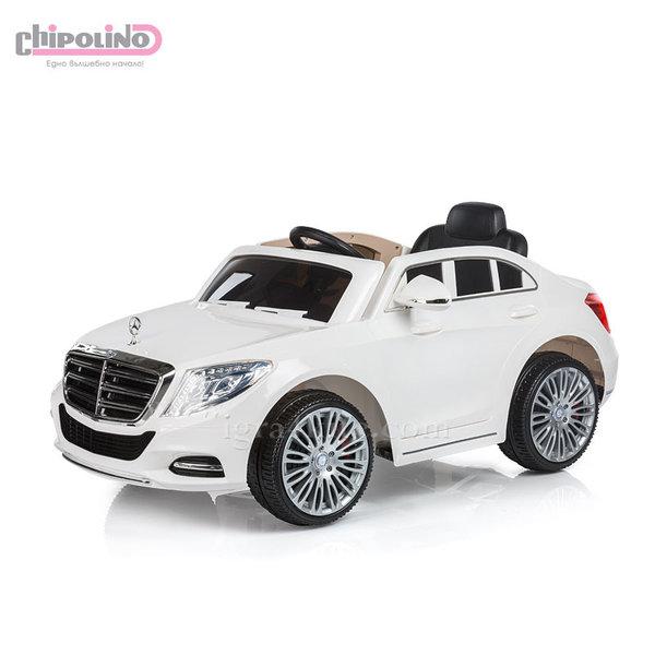 Chipolino - Акумулаторна кола Mercedes Benz S Class с дистанционно бяла