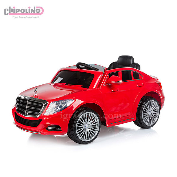 Chipolino - Акумулаторна кола Mercedes Benz S Class с дистанционно червена