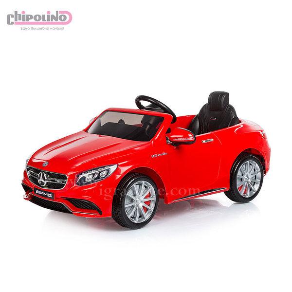 Chipolino - Акумулаторна кола Mercedes Benz AMG с дистанционно управление червена
