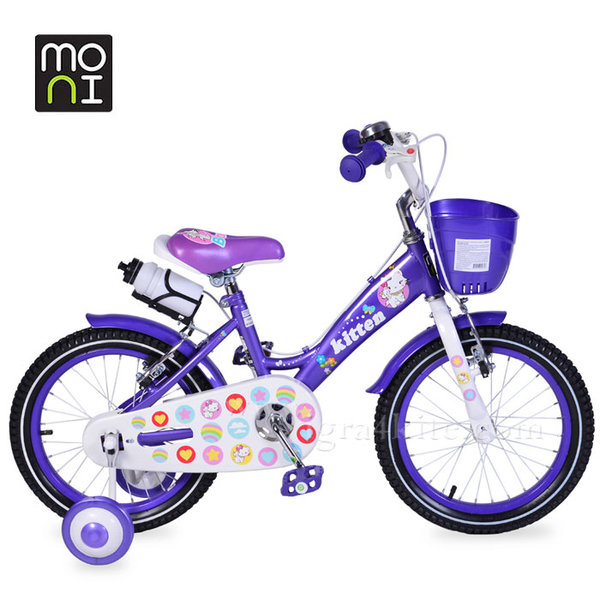 """Moni - Детски велосипед 16"""" 1680 лилав 103847"""