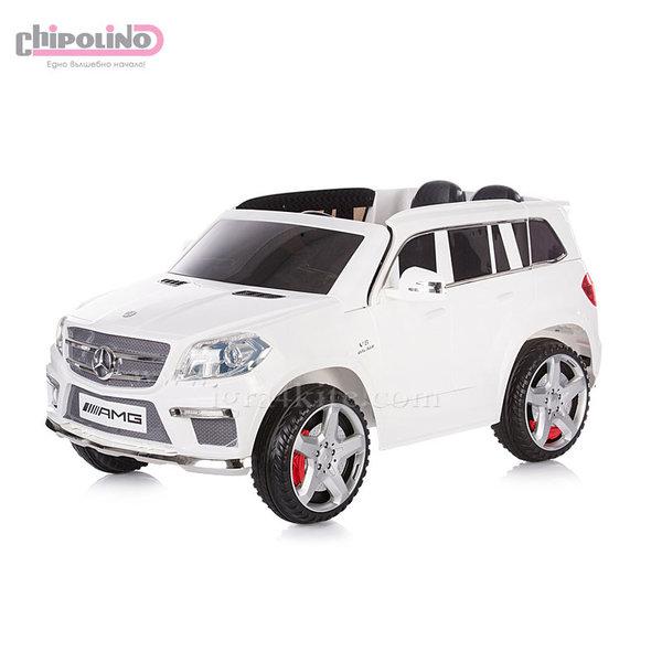 Chipolino - Акумулаторен джип Mercedes Benz GL63 AMG с дистанционно и MP3 бял