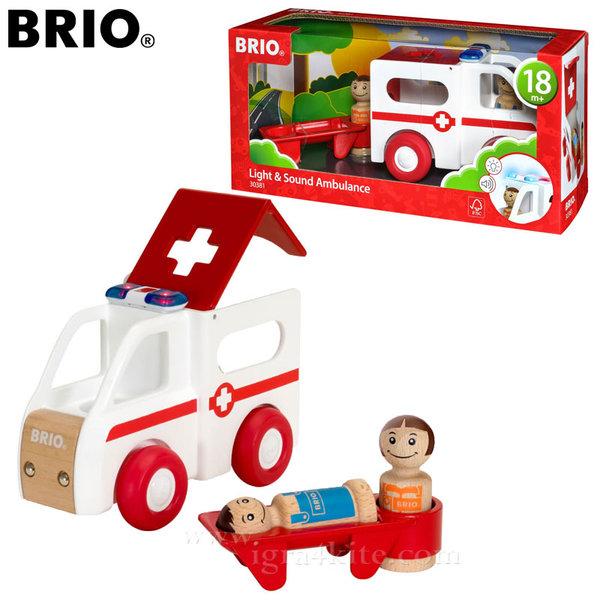 Brio - Дървена линейка със звук и светлина 30381