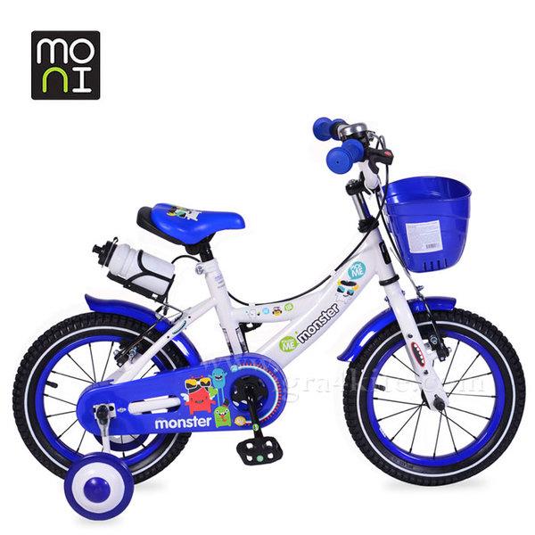 """Moni - Детски велосипед 14"""" 1481 син 103846"""