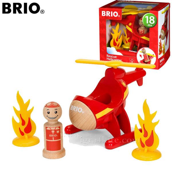 Brio - Дървен пожарникарски хеликоптер 30337