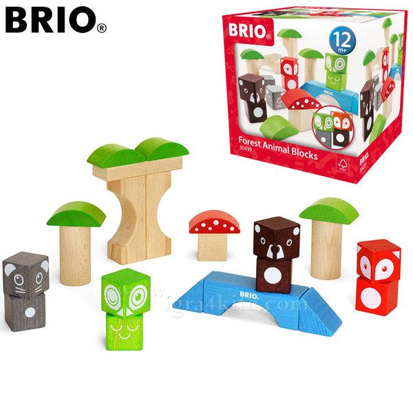 Brio - Дървени кубчета Животните в гората 30439