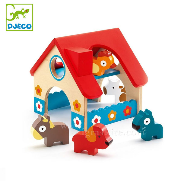 Djeco - Дървена играчка Мини ферма dj06388