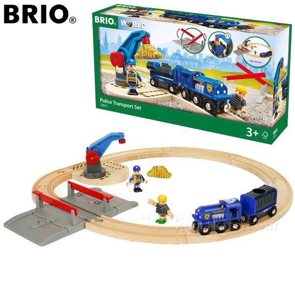 Brio - Дървено влакче с релси Полиция 33812