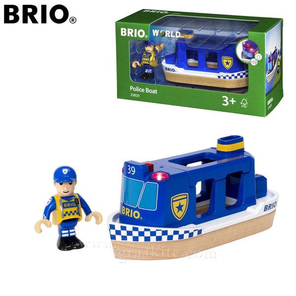 Brio - Полицейска лодка със звук и светлина 33820