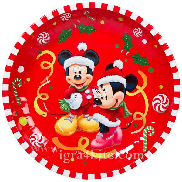 Disney - Коледна чиния Мики и Мини Маус