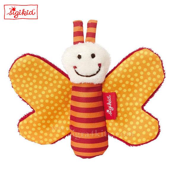Sigikid - Мека играчка Пеперуда оранж 9см 41181