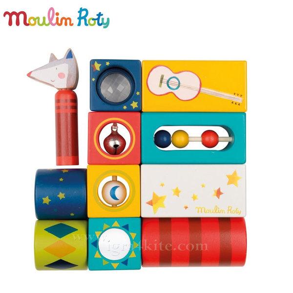 Moulin Roty - Дървени музикални кубчета 659316