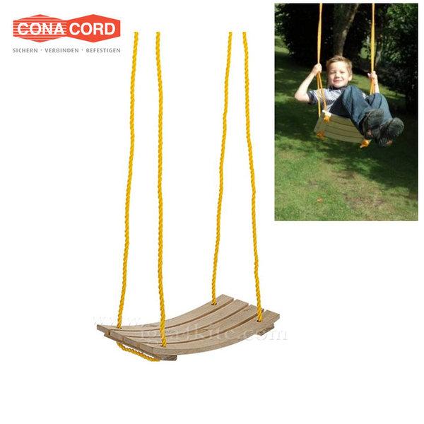 ConaCord - Детска дървена люлка извита 814617