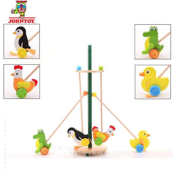 John Toy - Дървена играчка за бутане 22237