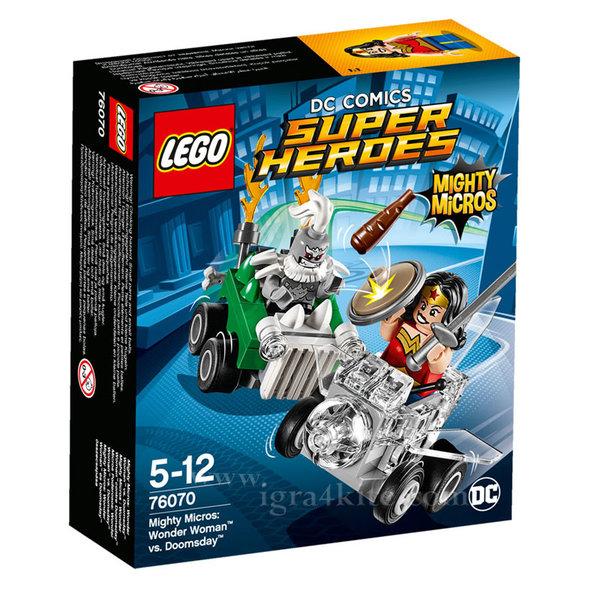 Lego 76070 Super Heroes - Mighty Micros: Жената чудо срещу Думсдей