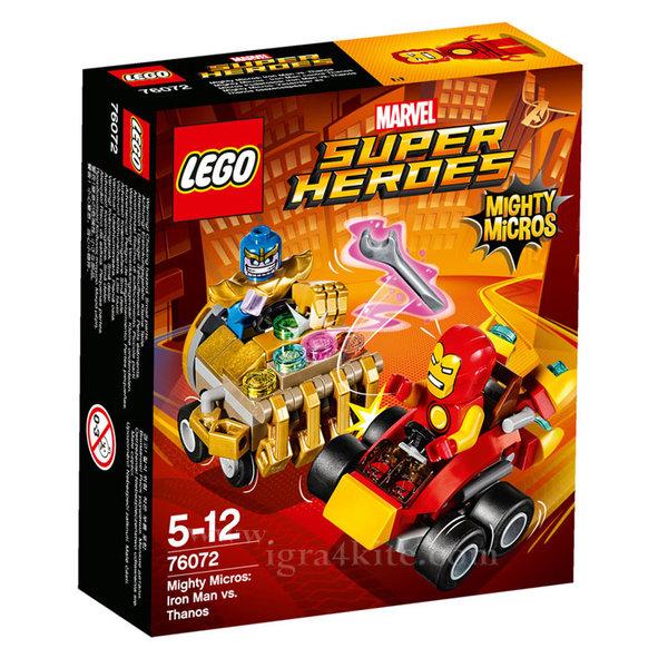 Lego 76072 Super Heroes - Mighty Micros: Железния човек срещу Танос