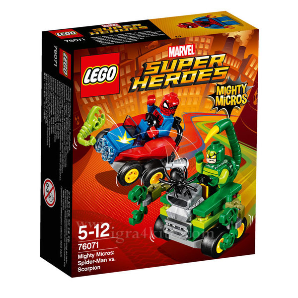 Lego 76071 Super Heroes - Mighty Micros: Спайдърмен срещу Скорпиона
