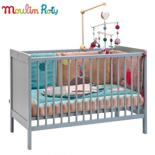 Moulin Roty - Бебешко дървено легло 721810