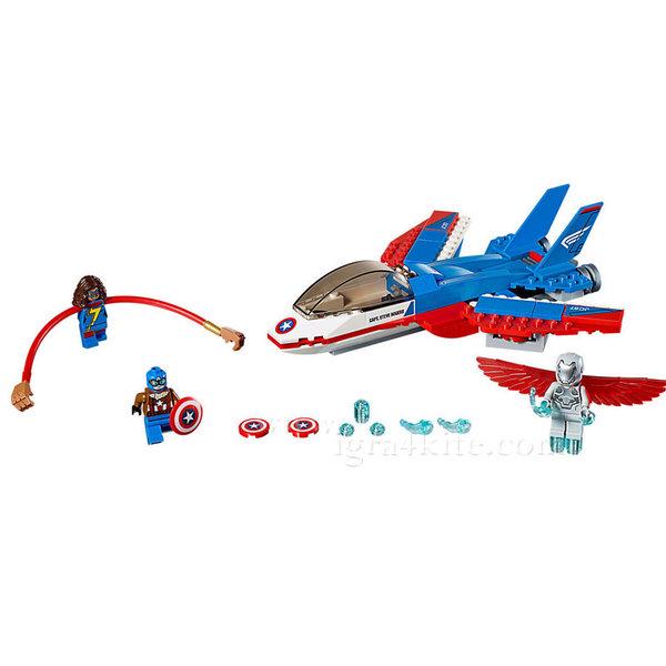 Lego 76076 Super Heroes - Капитан Америка Реактивно преследване
