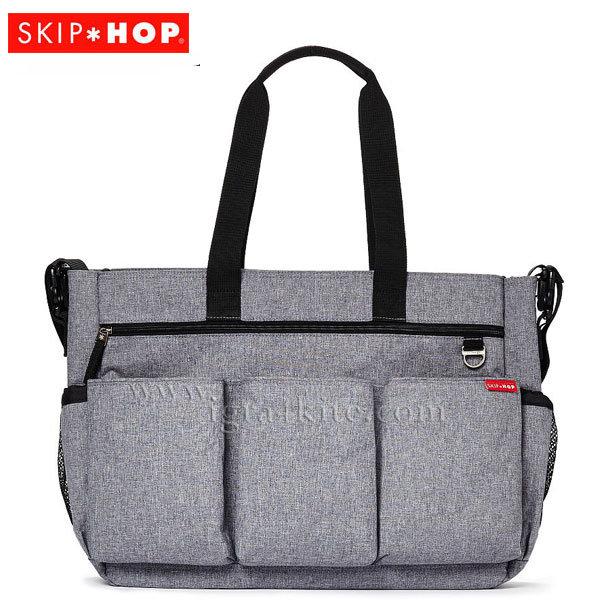 Skip Hop - Чанта за разходки за близнаци с подложка за повиване Double Signatute сива 230014