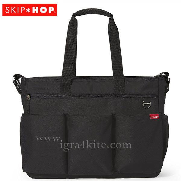 Skip Hop - Чанта за разходки за близнаци с подложка за повиване Double Signatute черна 230100