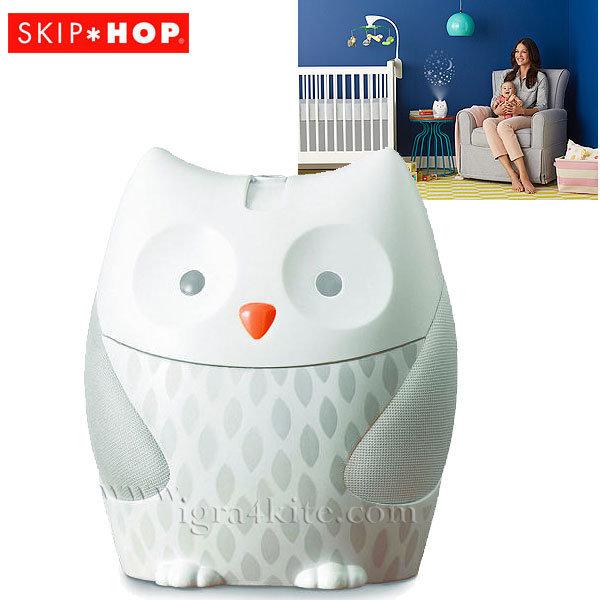 Skip Hop - Нощна лампа с 4 мелодии и таймер Moonlight & Melodies Бухалче 186000