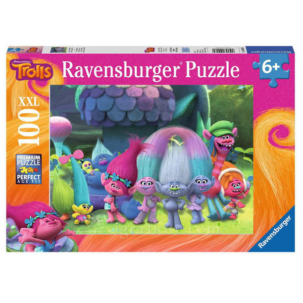 Ravensburger - Пъзел 6+ Тролчета 100 части XXL 700723