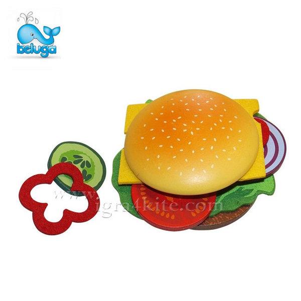 Beluga - Дървен хамбургер в хартиена опаковка 30884