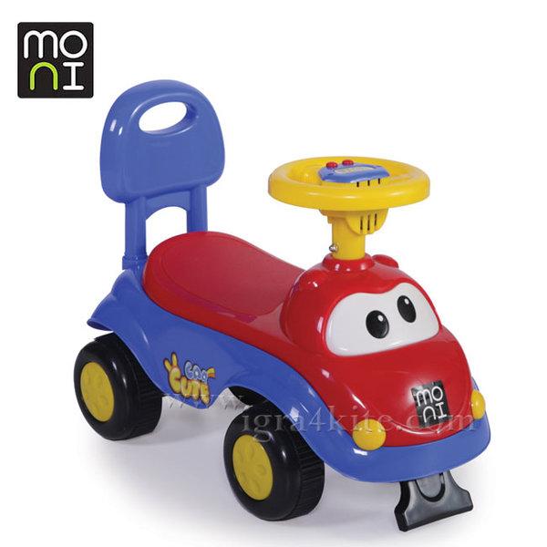 Moni - Детска кола за бутане с крачета Dream Car 612A синя 103864