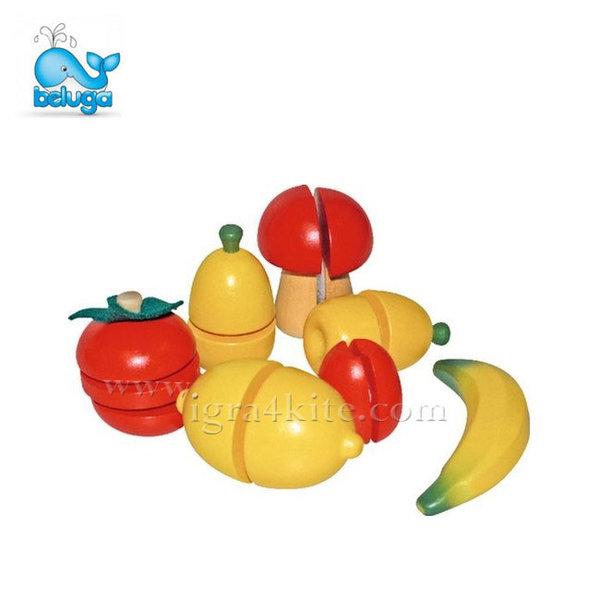 Beluga - Дървен комплект плодове и зеленчуци 70057