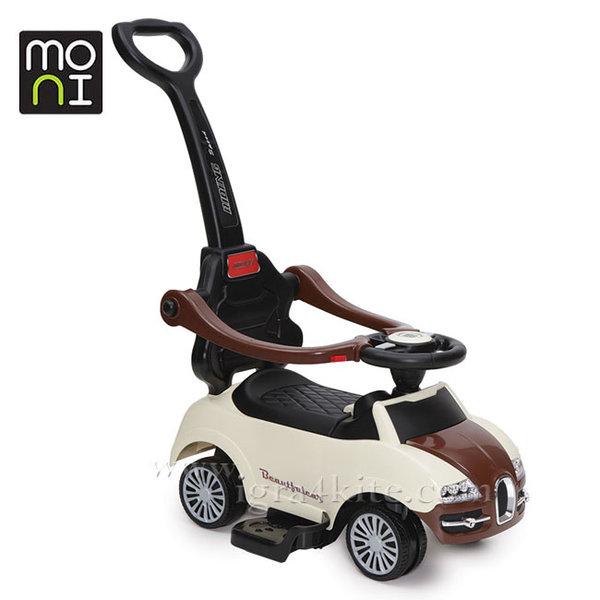 Moni - Детска кола за бутане с родителски контрол Rider 2281 беж 104117
