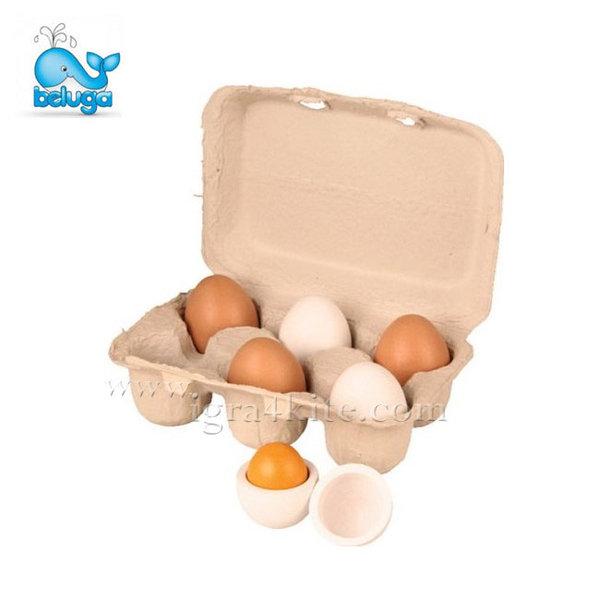 Beluga - Комплект 6 дървени яйца в кора 70827