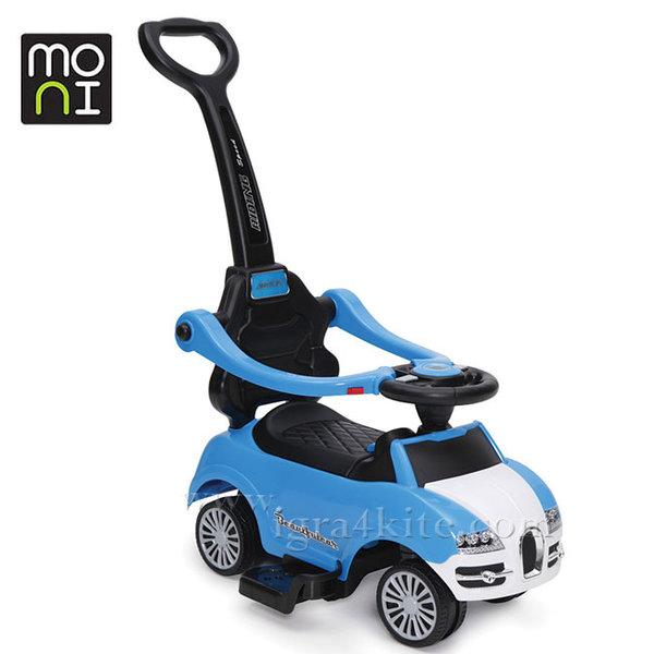 Moni - Детска кола за бутане с родителски контрол Rider 2281 син 104118