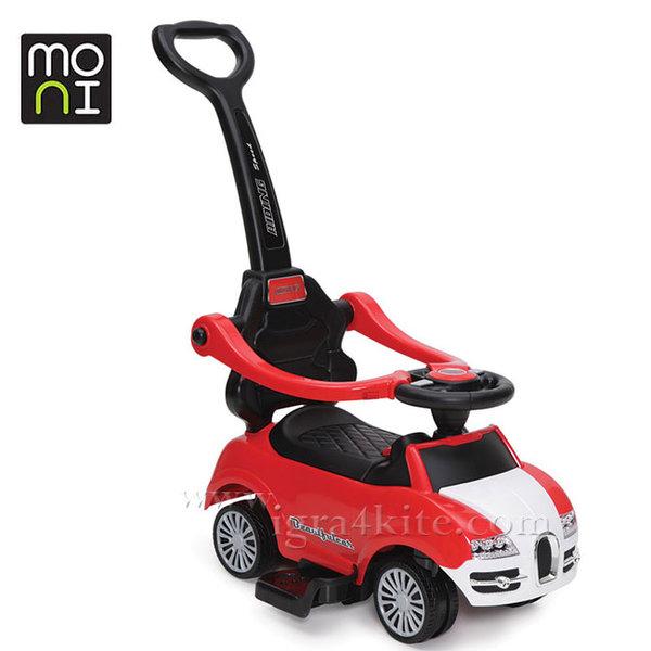 Moni - Детска кола за бутане с родителски контрол Rider 2281 червена 104119