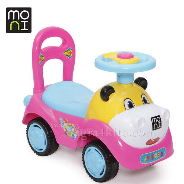 Moni - Кола за бутане с крачета Super car розова Z03A 103778