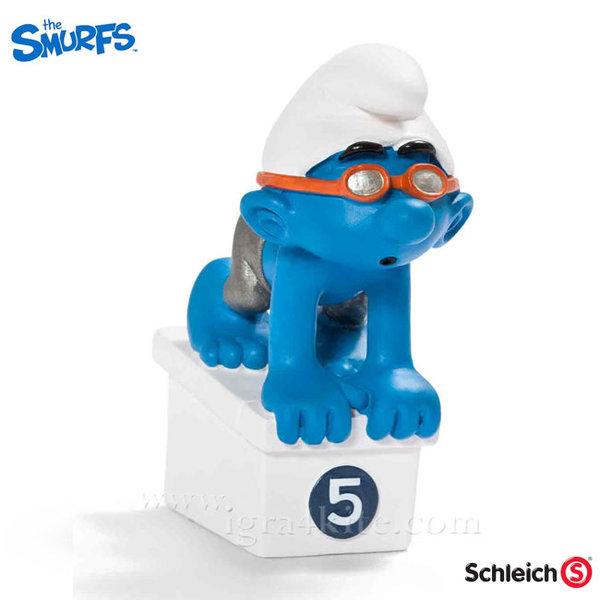 Schleich - Фигурка Смърф Плувец 20736