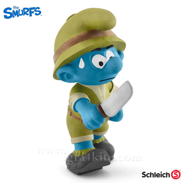 Schleich - Фигурка Смърф Авантюрист в джунглата 20782