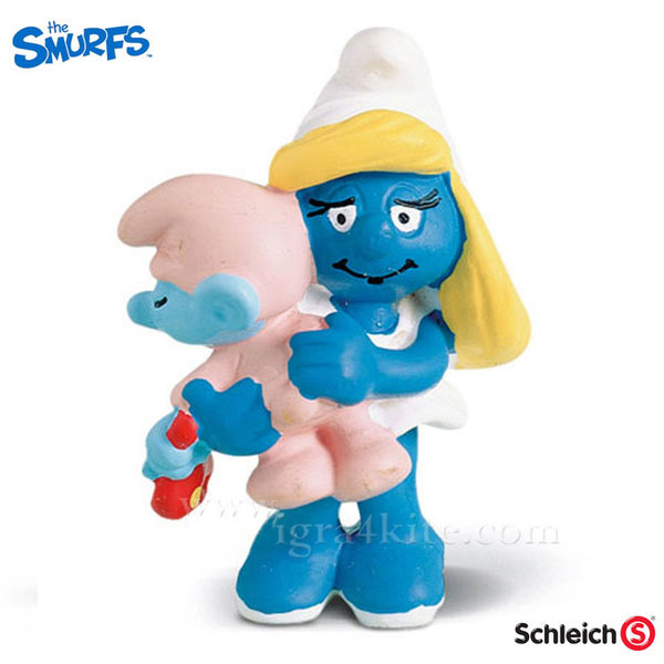 Schleich - Фигурка Смърфиета с бебе 20192