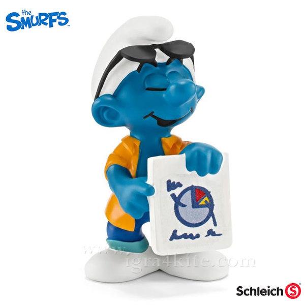 Schleich - Фигурка Смърф Маркетолог 20773