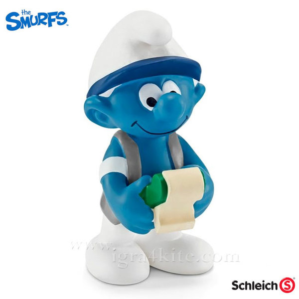Schleich - Фигурка Смърф Счетоводител 20772