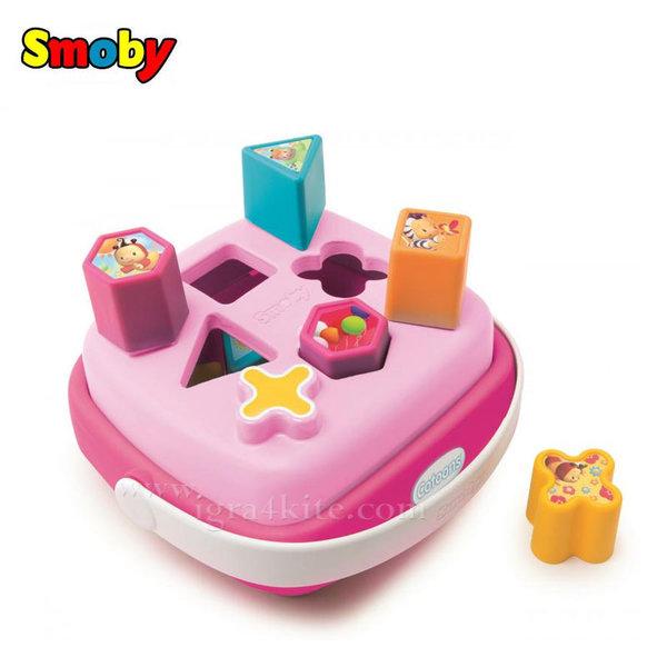 Smoby - Кофичка с форми за сортиране розова 110406
